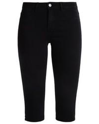schwarze Bermuda-Shorts aus Jeans von Pieces
