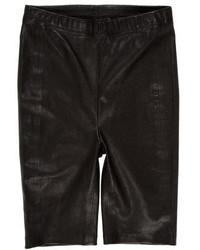 schwarze Bermuda-Shorts aus Leder
