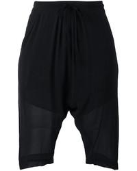 schwarze Bermuda-Shorts aus Seide