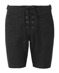 schwarze Bermuda-Shorts aus Twill von Saint Laurent