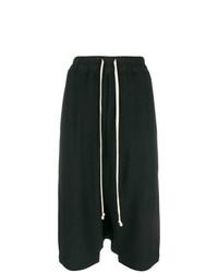 schwarze Bermuda-Shorts von Rick Owens