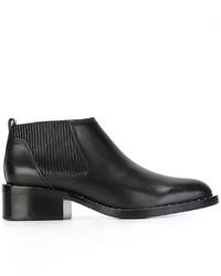 schwarze beschlagene Chelsea-Stiefel aus Leder von 3.1 Phillip Lim