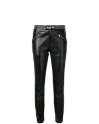 schwarze beschlagene enge Hose aus Leder von RED Valentino