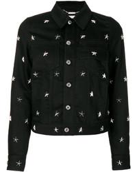 schwarze beschlagene Jacke von Givenchy