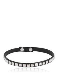 schwarze beschlagene Leder Halskette