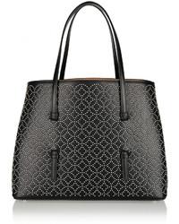 schwarze beschlagene Shopper Tasche aus Leder von Alaia