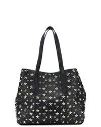 schwarze beschlagene Shopper Tasche aus Leder von Jimmy Choo