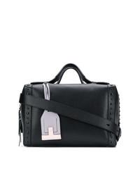 schwarze beschlagene Shopper Tasche aus Leder von Tod's