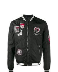 schwarze bestickte Bomberjacke von Dolce & Gabbana