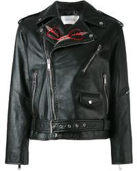 schwarze bestickte Jacke von Valentino