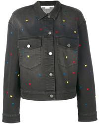 schwarze bestickte Jeansjacke von Stella McCartney