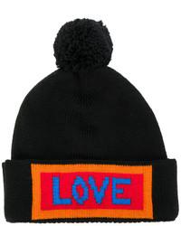 schwarze bestickte Mütze von Fendi