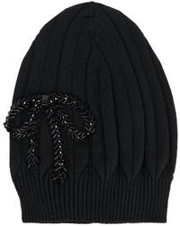 schwarze bestickte Mütze von No.21