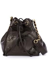 schwarze Beuteltasche von Chanel