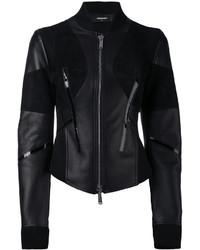schwarze Bikerjacke von Dsquared2