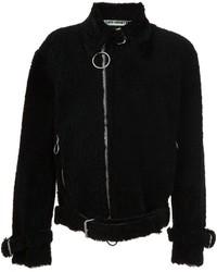 schwarze Bikerjacke von Off-White