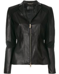 schwarze Bikerjacke von Versace
