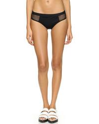 schwarze Bikinihose aus Netzstoff von Alexander Wang