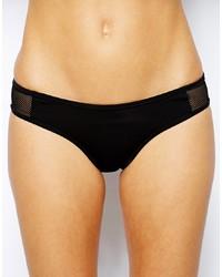 schwarze Bikinihose aus Netzstoff von French Connection