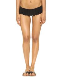schwarze Bikinihose mit Rüschen von Norma Kamali