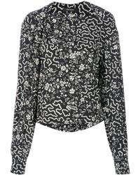 schwarze Bluse mit geometrischen Mustern von Isabel Marant