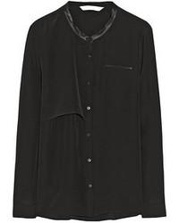 Schwarze bluse mit knoepfen original 4299539