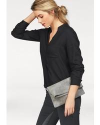 schwarze Bluse mit Knöpfen von AJC