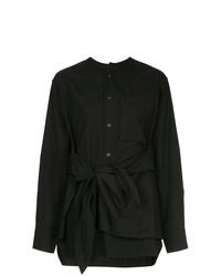 schwarze Bluse mit Knöpfen von Y's