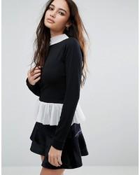 schwarze Bluse von Boohoo