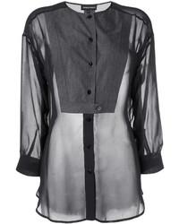 schwarze Bluse von Emporio Armani