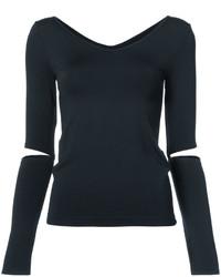 schwarze Bluse von Helmut Lang
