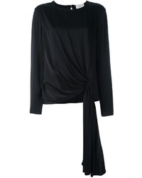 schwarze Bluse von Lanvin