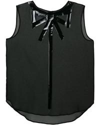 schwarze Bluse von Moschino
