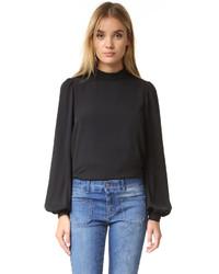 schwarze Bluse von Rebecca Minkoff