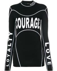 schwarze Bluse von Versace
