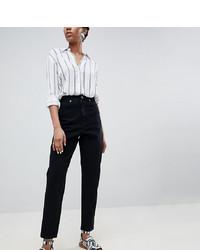 schwarze Boyfriend Jeans von Asos Tall