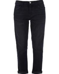 schwarze Boyfriend Jeans von Current/Elliott