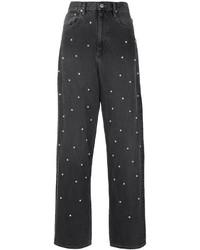 schwarze Boyfriend Jeans von Etoile Isabel Marant