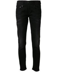 schwarze Boyfriend Jeans von R 13