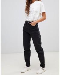 schwarze Boyfriend Jeans von Weekday