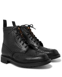 schwarze Brogue Stiefel aus Leder von Church's