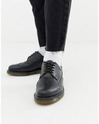 schwarze Brogue Stiefel aus Leder von Dr. Martens