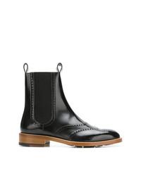 schwarze Brogue Stiefel aus Leder von Maison Margiela