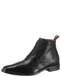schwarze Brogue Stiefel aus Leder von Melvin&Hamilton