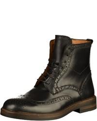 schwarze Brogue Stiefel aus Leder von Sebago