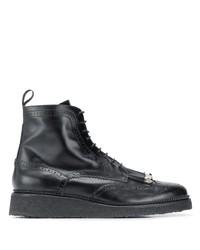schwarze Brogue Stiefel aus Leder von Toga Virilis