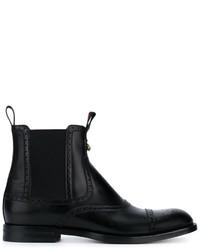 schwarze Brogue Stiefel von Gucci