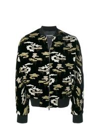 schwarze Camouflage Bomberjacke von Emporio Armani