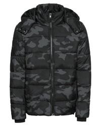 schwarze Camouflage Daunenjacke von Urban Classics