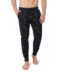 schwarze Camouflage Jogginghose von Skiny